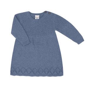 Puri Organic Kleinkinder Kleid Ajour Bio Baumwolle Wolle Strick - Puri Organic