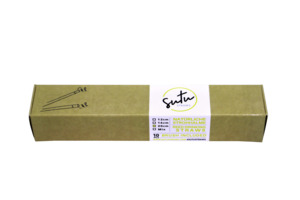 Strohhalme aus Schilf 10-er mit Bürste, 20 cm - SUTU