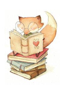 Book Lover - Poster von Mike Koubou - Photocircle