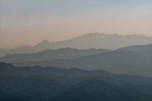 Layered Mountainscape - Poster von AJ Schokora - Photocircle