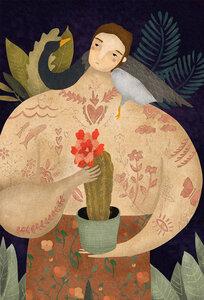 WILD GEESE MAN - Poster von Amalia Restrepo - Photocircle