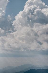 Sun Rays and Mountain Tops - Poster von AJ Schokora - Photocircle
