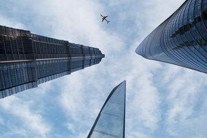 Shanghai Airspace - Poster von AJ Schokora - Photocircle