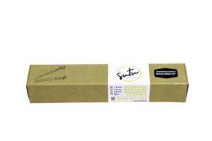 Strohhalme aus Schilf 10-er mit Nachricht + Bürste, 20 cm - SUTU