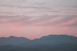 Mountainview Skyline - Poster von AJ Schokora - Photocircle