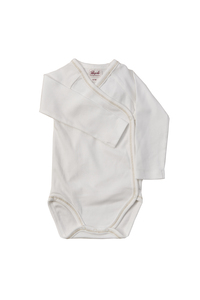 Baby Wickelbody Langarm weiß Bio Baumwolle - People Wear Organic