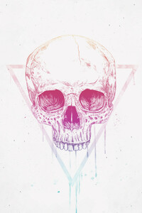 Skull in a triangle - Poster von Balazs Solti - Photocircle