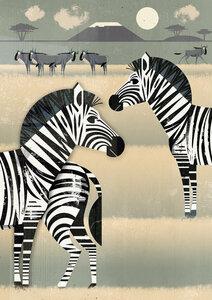 Zebras - Poster von Dieter Braun - Photocircle