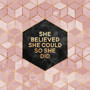 She Believed She Could - Poster von Elisabeth Fredriksson - Photocircle