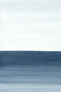 Ocean Watercolor Painting No.1 - Poster von Cristina Chivu - Photocircle