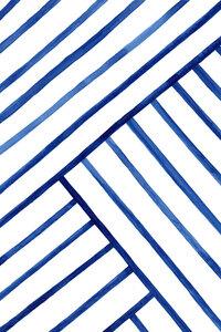 Watercolor Lines Pattern - Poster von Cristina Chivu - Photocircle