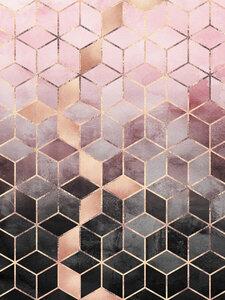 Pink Grey Gradient Cubes - Poster von Elisabeth Fredriksson - Photocircle
