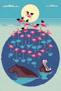 Flamingo See - Poster von Dieter Braun - Photocircle