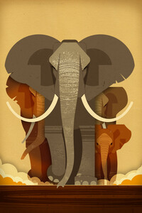 Elefanten - Poster von Dieter Braun - Photocircle