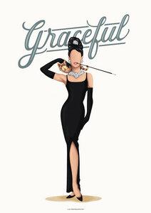 Audrey Hepburn Graceful - Poster von Draw Me A Song - Reviews - Photocircle