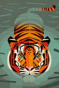 Tiger - Poster von Dieter Braun - Photocircle