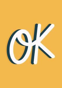 OK - Poster von Frankie Kerr-Dineen - Photocircle