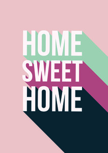 Home Sweet Home - Poster von Frankie Kerr-Dineen - Photocircle