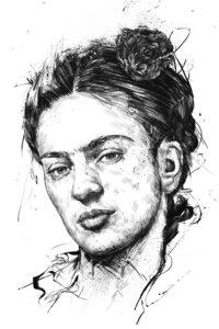 Frida - Poster von Balazs Solti - Photocircle