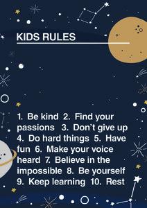Kids Rule - Poster von Frankie Kerr-Dineen - Photocircle