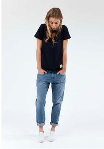 Boyfriend Basin - Stone Blue - Mud Jeans
