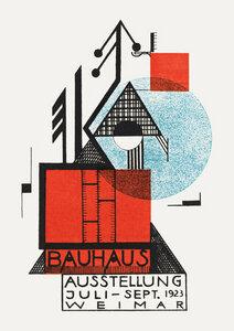 Bauhaus Austellung Weimar 1923 (sepia) - Poster von Bauhaus Collection - Photocircle