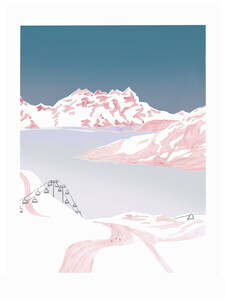 Mantika Mountain Love Talfahrt - Poster von Christina Wolff - Photocircle