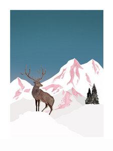 Mantika Mountain Love Stag - Poster von Christina Wolff - Photocircle