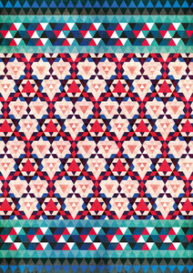 Bohemian Moroccan Mosaic - Poster von Pia Kolle - Photocircle