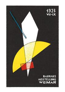Bauhaus Ausstellungsplakat 1923 (weiß) - Poster von Bauhaus Collection - Photocircle