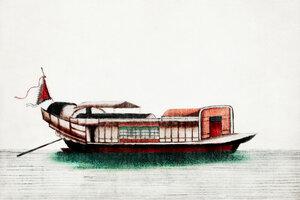 Chinesische Malerei eines  - Poster von Vintage Collection - Photocircle