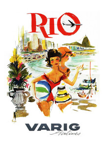 RIO - VARIG Airlines - Poster von Vintage Collection - Photocircle