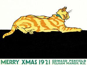 Frohe Weihnachten von Edward Penfield - Poster von Vintage Collection - Photocircle