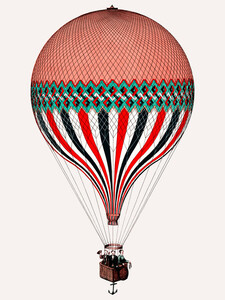 Vintage Illustration Heißluftballon - Poster von Vintage Collection - Photocircle