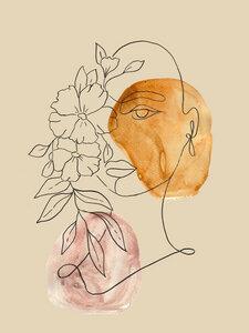 Floral Face - Poster von Christina Wolff - Photocircle