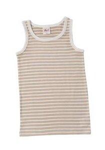 Kinder Unterhemd beige geringelt - People Wear Organic