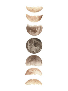 Phases of the Moon Art Print - Poster von Christina Wolff - Photocircle