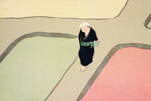 Weg durch die Felder - Poster von Japanese Vintage Art - Photocircle