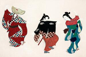 Tänzer aus Momoyogusa - Poster von Japanese Vintage Art - Photocircle