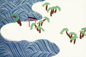 Meereswellen aus Momoyogusa - Poster von Japanese Vintage Art - Photocircle