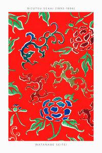 Flower Pattern by Watanabe Seitei 1893 - Poster von Japanese Vintage Art - Photocircle