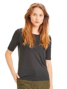 Damen T-Shirt Violet - KnowledgeCotton Apparel