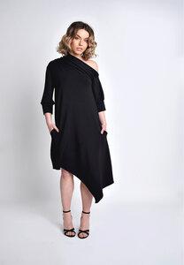 Kurzes Kleid, Midikleid schwarz asymmetrisch - SinWeaver atternative fashion