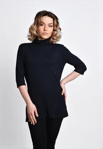 Rollkragenshirt kurzarm schwarz - SinWeaver alternative fashion