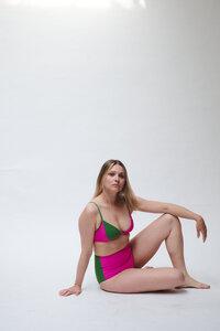 Hochgeschnittenes Bikini Höschen BOTTOM No.3 - MARGARET AND HERMIONE Swimwear Vienna