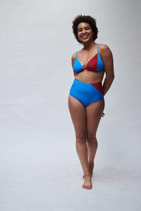 Triangel-Bikini Top mit raffiniertem Patchwork Design TOP No.4 - MARGARET AND HERMIONE Swimwear Vienna