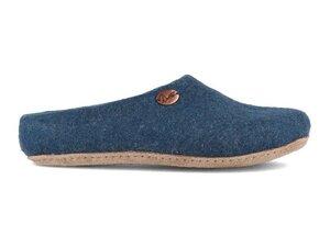Sommerpantoffeln 'Step' - handgefilzte Fair Trade Filz-Hausschuhe - extra dünn und ultra leicht - WoolFit