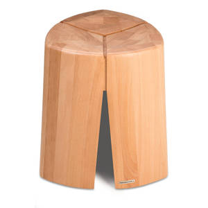 Design Hocker 3legs aus massiver Buche  - NATUREHOME