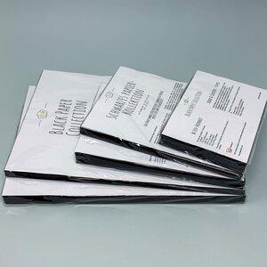 Schwarzes Papier Kollektion A4/A5/A6, 230 g/qm dick, 30/50 Stück - PepMelon