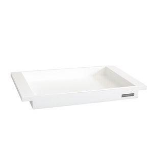 Tablett aus massivem Buchen-Holz in Weiß Serie NH-E Maße 45x28 cm - NATUREHOME